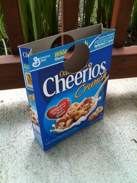 Isn't this fun?! So I took an empty Cereal Box (obviously lol) and cut ...