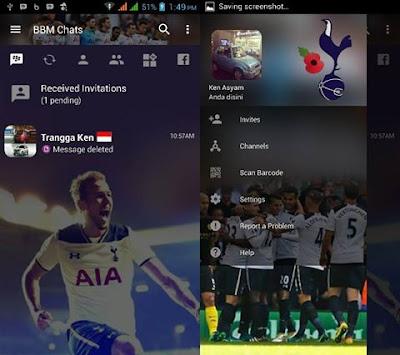 BBM Mod Bola Tottenham Hotspur F.C Transparant V3.2.0.6 Apk