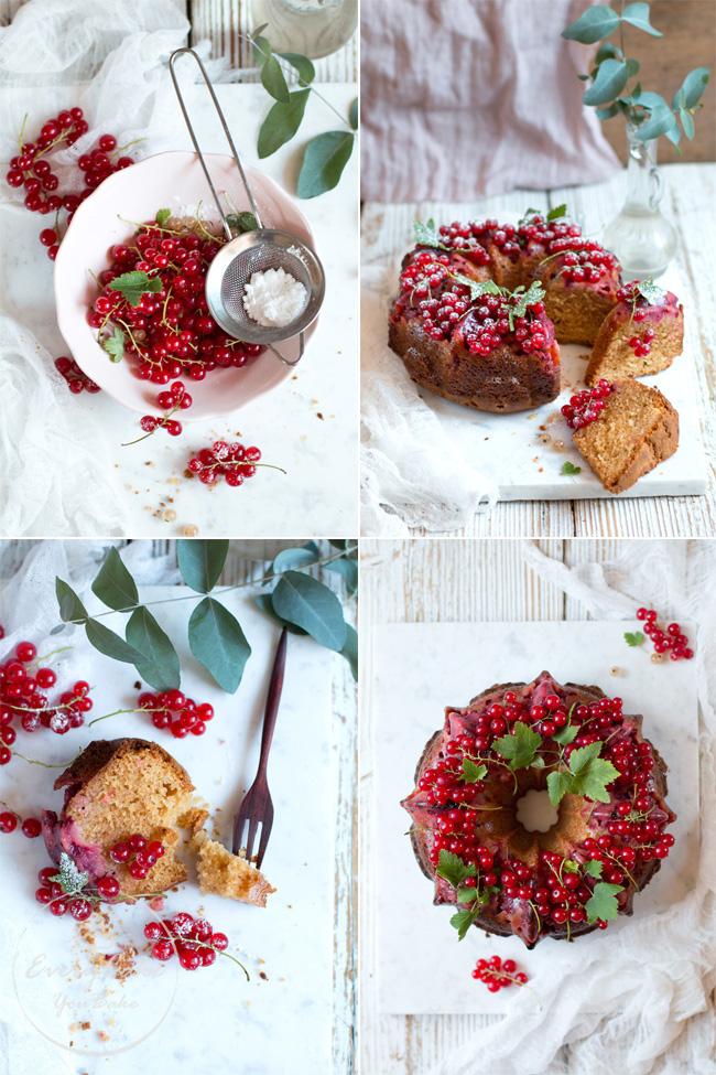 ciasto z białą czekoladą i porzeczkami czerwonymi
