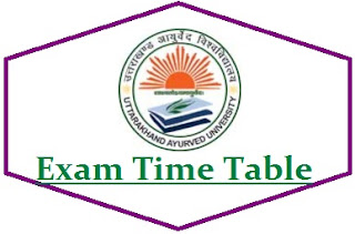 Uttarakhand Ayurved University Exam Date Sheet 2020