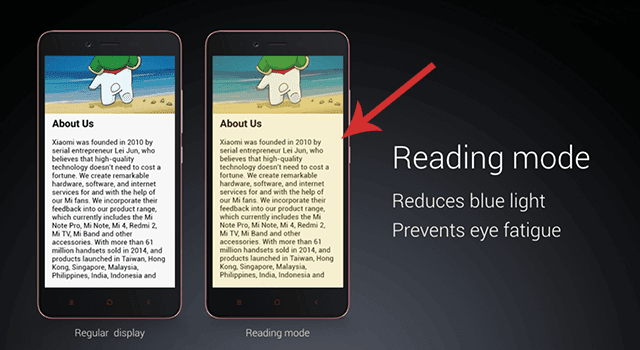 what is Reading Mode in redmi Note 4