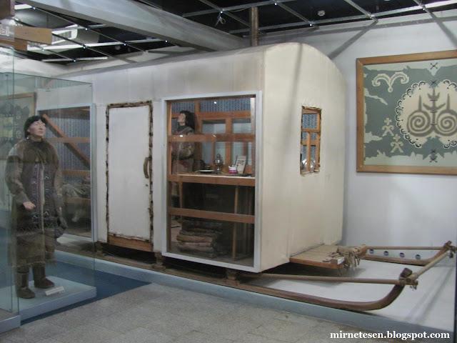Красноярский краеведческий музей - Передвижной дом на полозьях