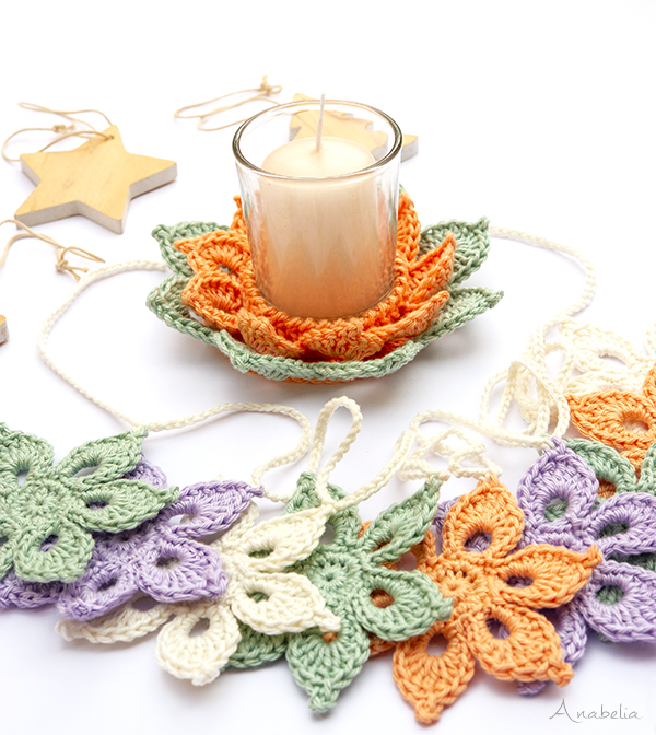 Christmas crochet arrangements, Anabelia Craft Design