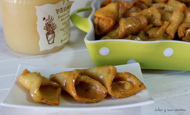 Pestiños con miel