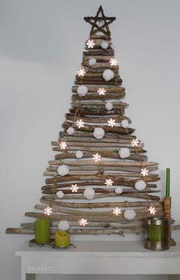 Pohon Natal dari Batang Kayu