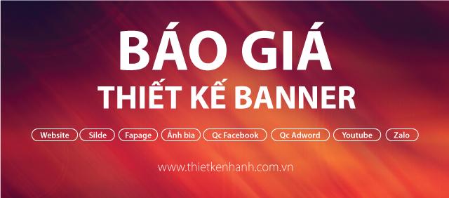 Bảng giá thiết kế banner website, facebook