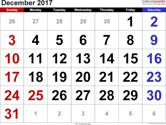 December 2017 Calendar, December Calendar 2017, December 2017 Printable calendar, December 2017 calendar printable, December 2017 Blank calendar, December 2017 calendar with holidays