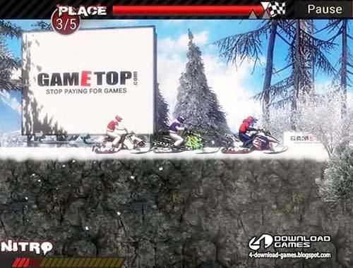 لعبة موتوسيكلات الجليد المتطرفة Snowmobile Extreme Racing