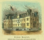 German Hospital, Park Avenue - 77th Street, um 1868