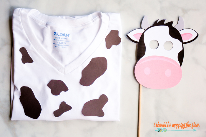 photo about Cow Costume Printable named Cost-free Printable Cow Mask and Destinations i need to be mopping the