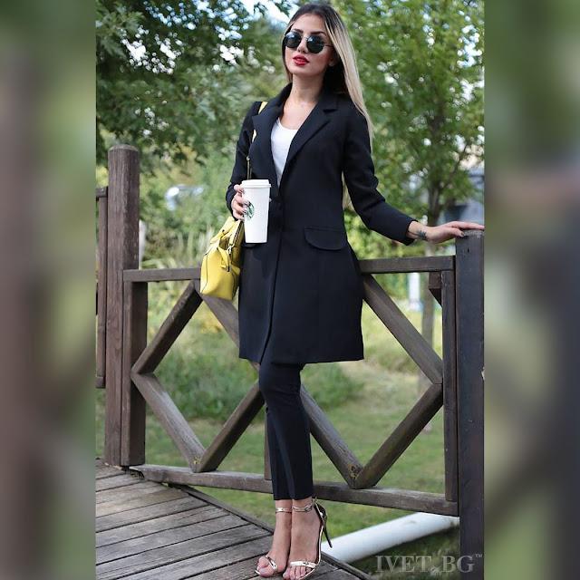 Γυναικείο μαύρο κοστούμι - σύνολο MALLIA BLACK