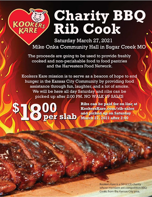 BBQ Rib Slabs for Sale in Sugar Creek to Raise Money for Harvesters