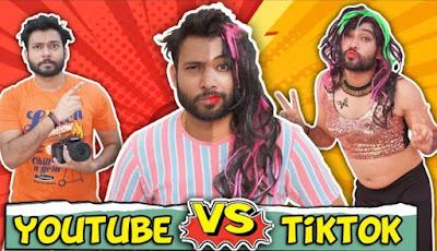 YouTube Vs Tiktok Baklol video