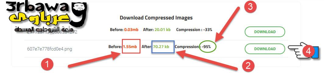 موقع جديد لضغط الصور وتصغير حجمها لأقل حجم ومساحة بدون التاثير على جودتها
