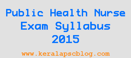Junior Public Health Nurse Grade 2 Exam Syllabus 2015