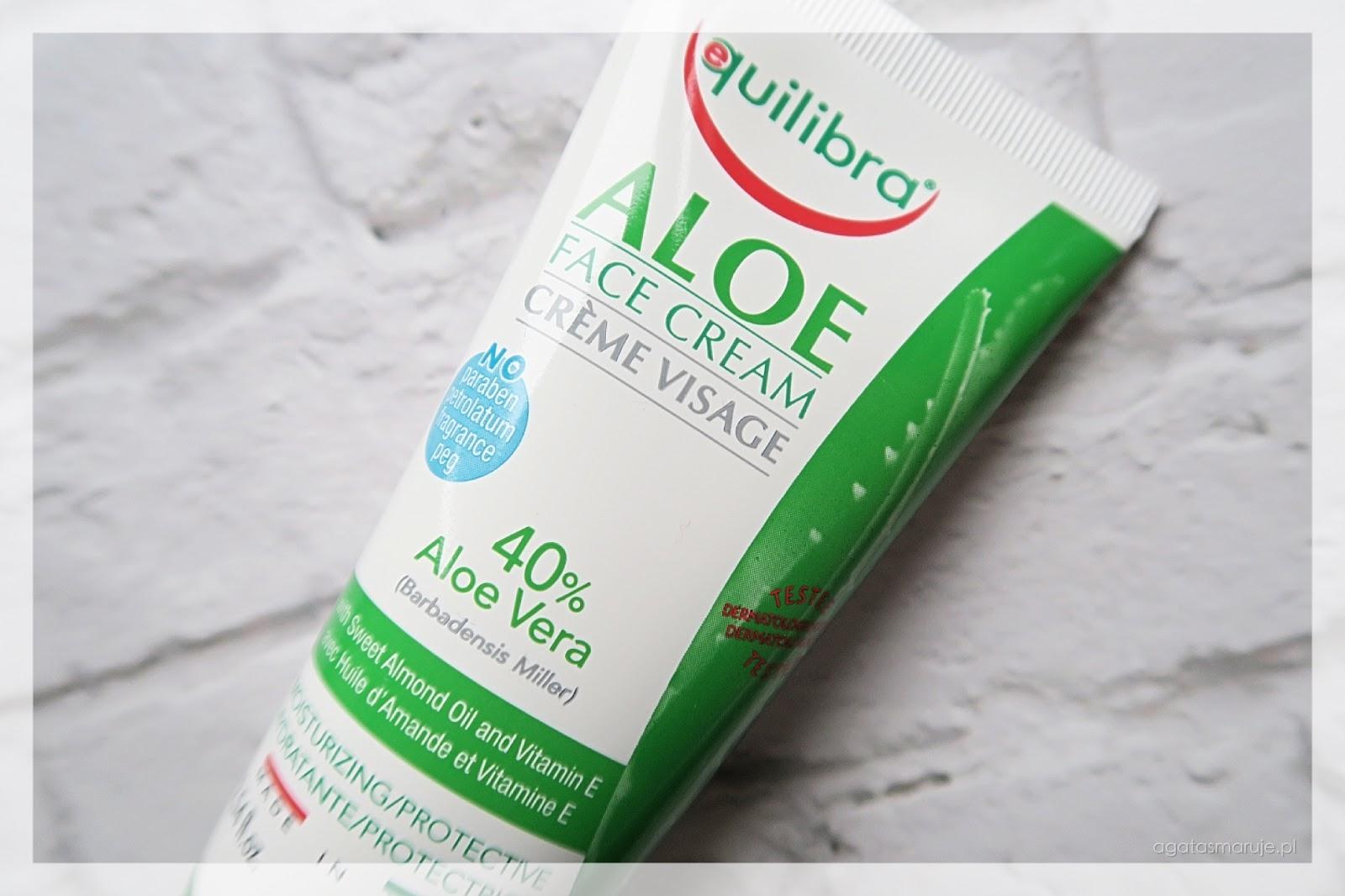 Equilibra Aloe Face Cream aloesowy krem do twarzy opinie