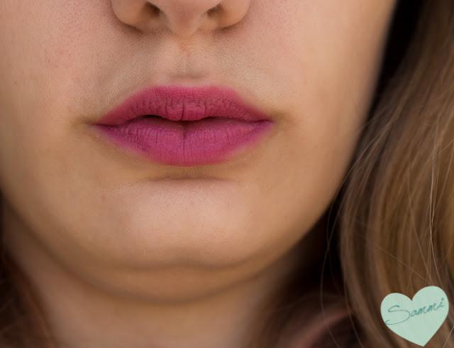 Birchbox: The Lip Sync Kit Review - Pop Beauty Matte Velvet Lipstix in Satin Rose Swatches