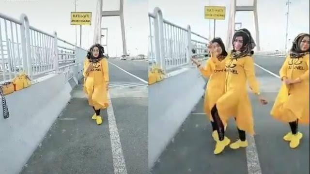 Emak-emak Berbaju Serba Kuning yang Bikin TikTok di Jembatan Suramadu Minta Maaf, Berikut Hukumannya
