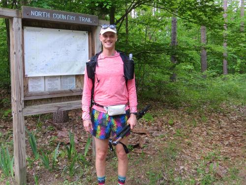 hiker at trailhead