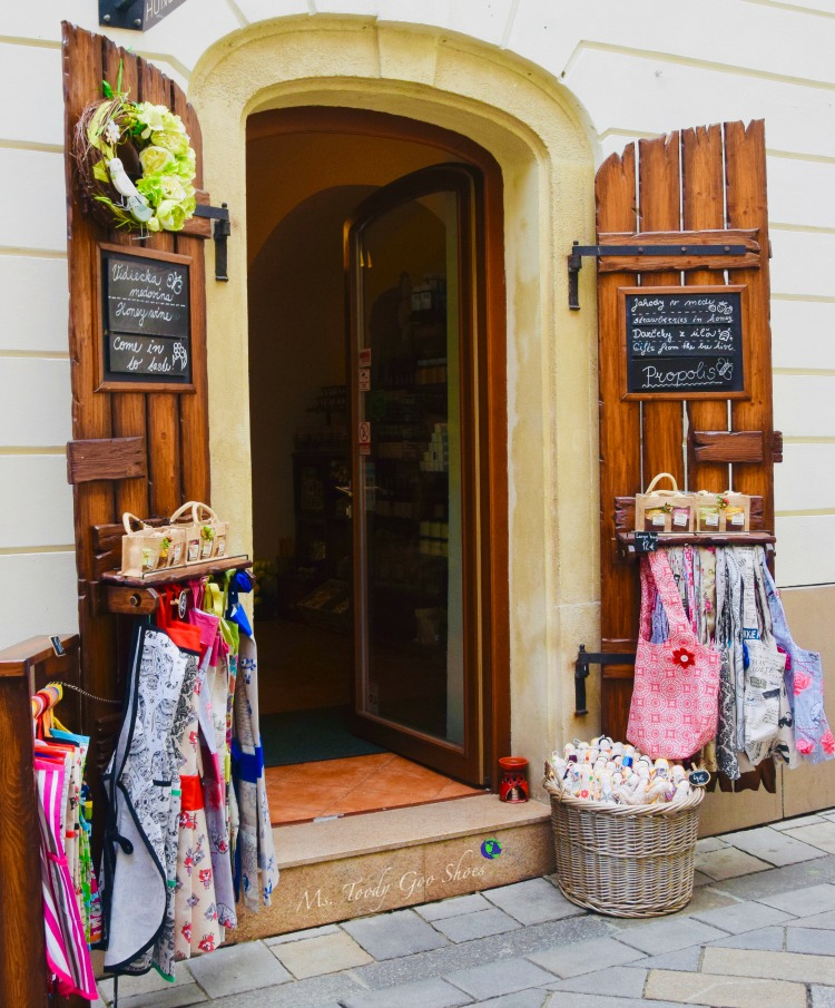 Are you seduced by a charming storefront? This one is in Bratislava, Slovakia | Ms. Toody Goo Shoes