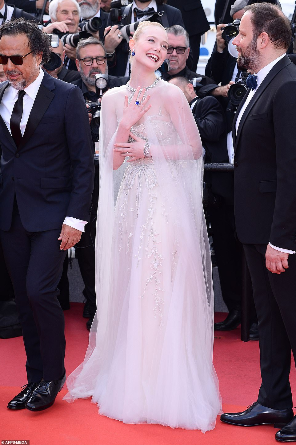 Elle Fanning Wore a Tulle Cape to the Cannes Film Festival Closing Ceremony
