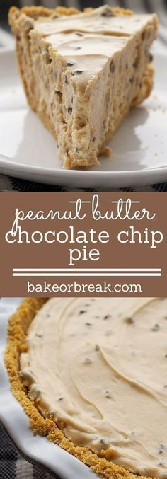 Peanut Butter-Chocolate Chip Pie is a simple, almost no-bake pie with big chocolate and peanut butter flavor.
