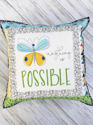 A Bit of Scrap Stuff Blog #ABitofScrapStuffBlog #FreeTutorial #Pillow #QuiltedPillow #RileyBlakeDesigns #SandyGervais