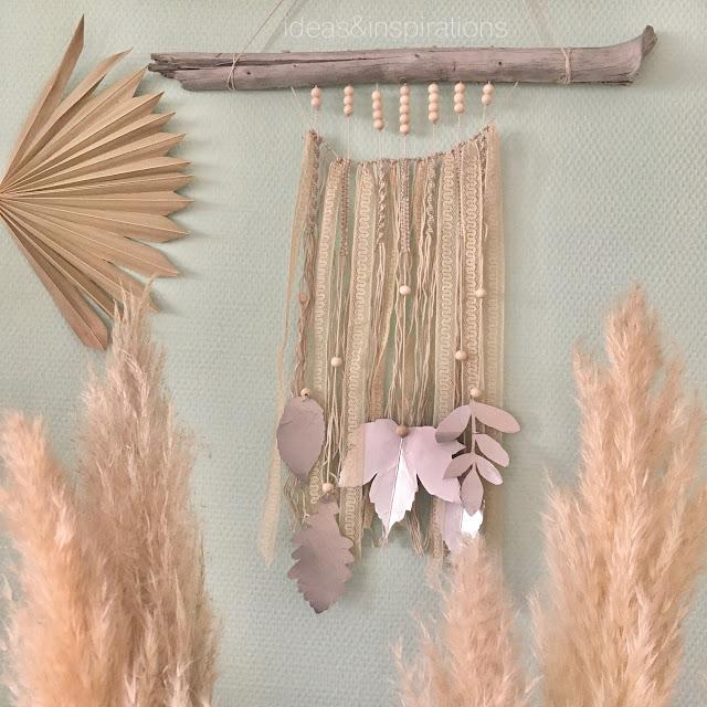Wanddeko mit Makramee aus Tetra Pack selber machen