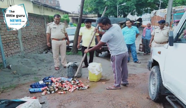 Wine destroyed in kesariya police station
