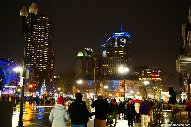 Celebración de Noche Vieja en Boston