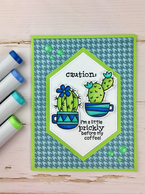 I'm a little prickly before my coffee by Meghan features Cuppa Cactus by Newton's Nook Designs; #newtonsnook
