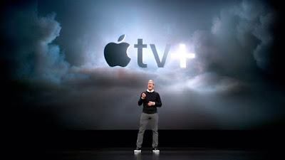 Apple TV + label