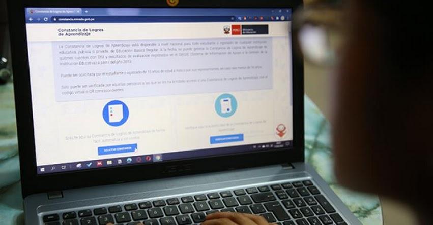 MINEDU: Estudiantes ya pueden solicitar Constancia de Logros de Aprendizaje de manera digital y gratuita