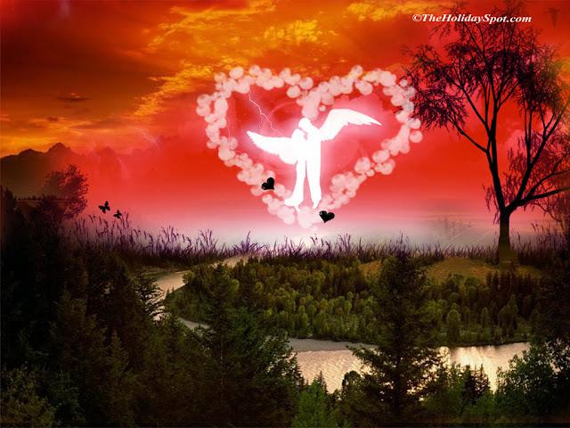 hình ảnh về tình yêu đẹp lãng mạn dễ thương, thiên thần tình yêu