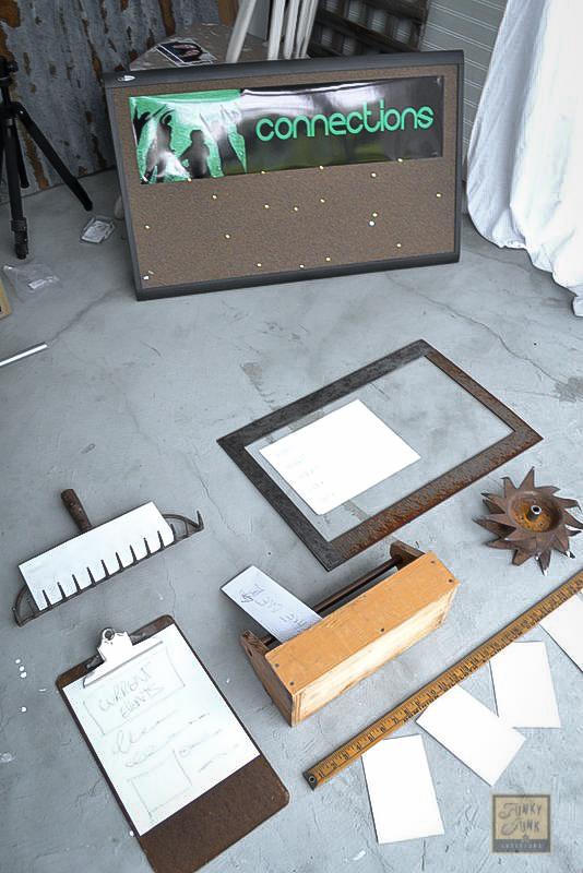 bulletin board junk style Funky Junk Interiors