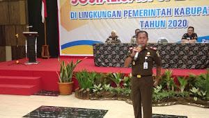 Dihadapan 180 Jajaran SKPD Banyumas, Kajari Eko Bambang Marsudi Paparkan Saber Pungli