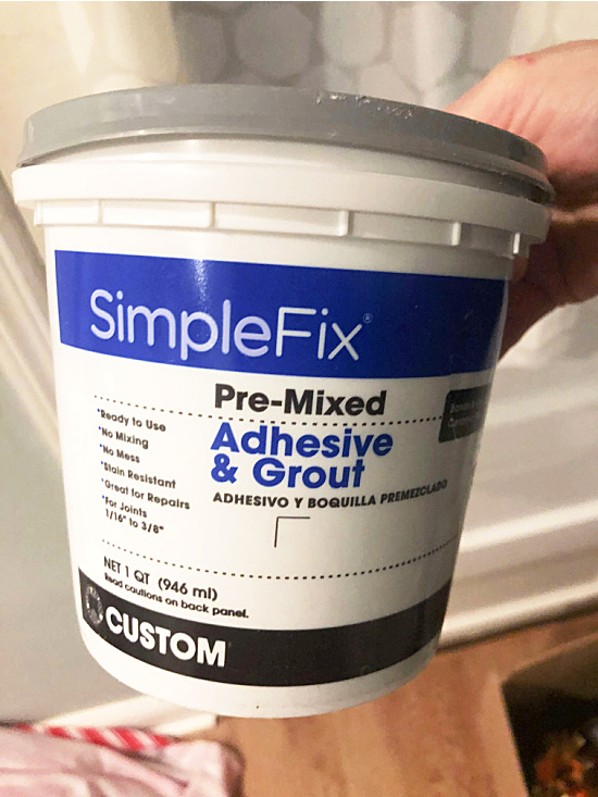 adhesive grout container
