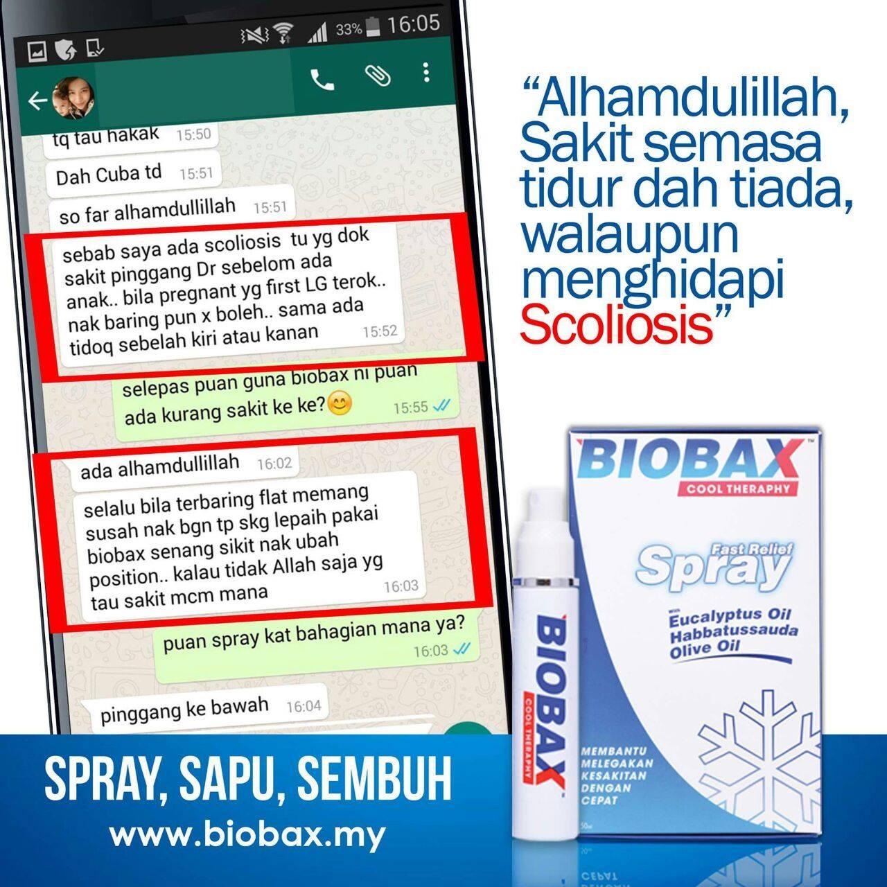 testimoni berkesan Biobax Cool Theraphy