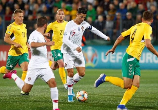 Jihar News, Portugal Gasak Lithuania 5-1 Di Hasil Kualifikasi Piala Eropa, Ronaldo Quat-trick