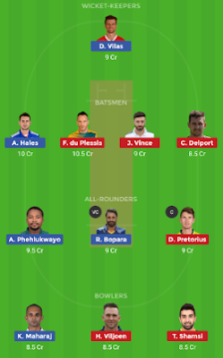 PR vs DUR dream 11 team | DUR vs PR