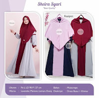 Jual Baju Busana Muslim Dress Sheira Syari
