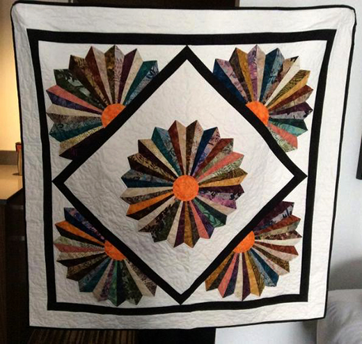 Dresden Blade - Jelly Roll Quilt free Pattern