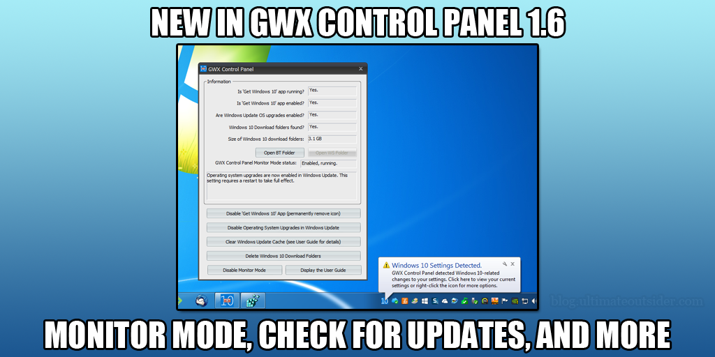 Ultimate Outsider: GWX Control Panel 1 6 Introduces Monitor Mode and