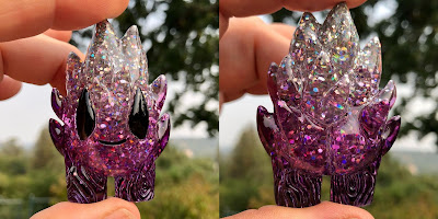 Purple Shimmer Spark Resin Figures by Leecifer