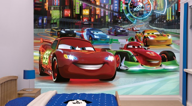 Disney Cars Wall Mural  Children Wallpaper