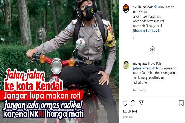 Unggah Pantun Ormas Radikal, Akun Instagram Humas Polri Diserbu Netizen
