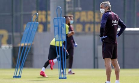 رسميا.. برشلونة يعود الى التدريبات اليوم