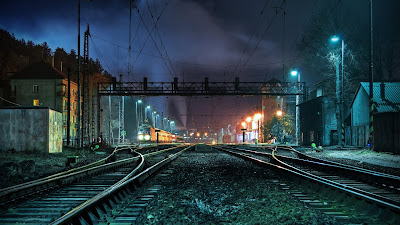 train station hd wallpaper