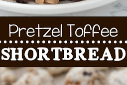 Pretzel Toffee Shortbread Cookies Recipe