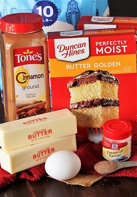 Cake Mix Snickerdoodles Ingredients Image